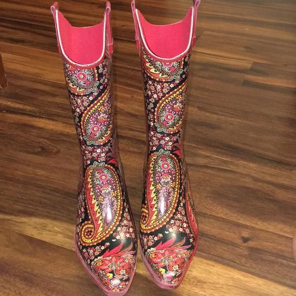 8baa5a2b53d Corkys Paisley Rain Boots